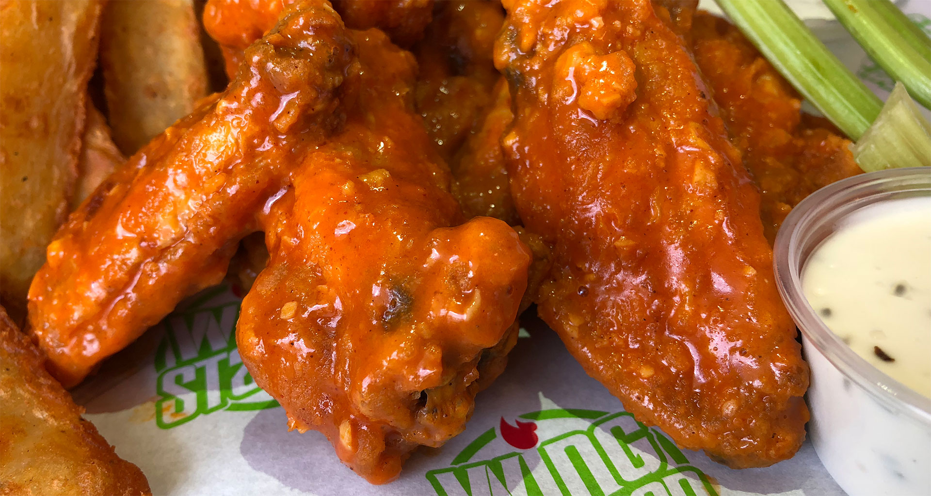 Wing Station - Wings with Wedges, Celery & Ranch